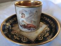 Tête à tête en porcelaine de Vienne. Réf: 282.