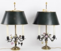 Paire de lampes Bouillotte Louis XVI. XIX ème siècle