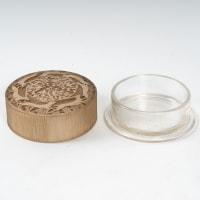 Boîte « Fontainebleau » verre blanc patiné sépia de René LALIQUE