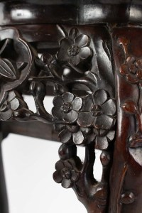 Selette Tripod, Antique Iron Wood Decor Cherry Blossom, China