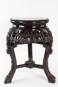 Selette Tripod, Antique Iron Wood Decor Cherry Blossom, China