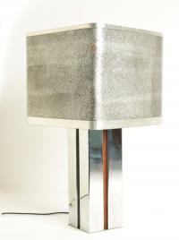 Lampe de Table Vintage en aluminium 1970