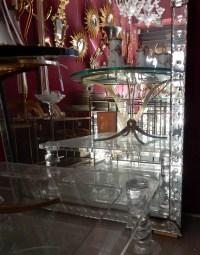 1900′ Miroir Venise A Bulles Rectangulaire 202 X 111 cm
