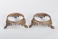 Paire de socles en bronze doré 19e siècle Napoléon III