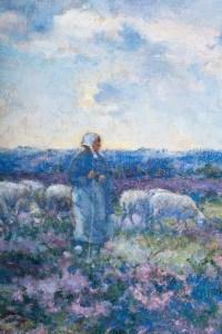 Michel Korochansky 1866-1925. Bergère dans la lande.