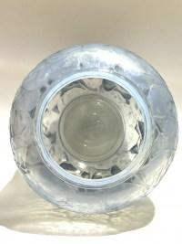 """Vase """"Monnaie du Pape"""" verre opalescent patiné bleu de René LALIQUE"""