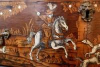 Commode en marqueterie XIXème, du nord de l'Italie