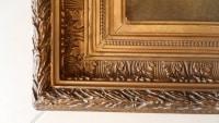 Portrait d'homme, sur toile, dans son cadre en bois doré. Réf: Charles 16.