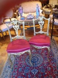 Paire de chaises rouges St LouisXV.   Ep: Napoléon lll