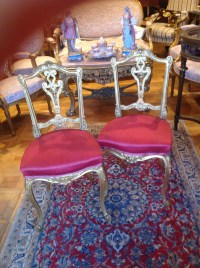 Paire de chaises Napoléon lll