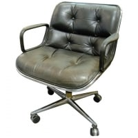 "Charles Pollock, Knoll, fauteuil ""Executive Chair"" noir"