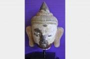 Tête de Bouddha en Terre Cuite