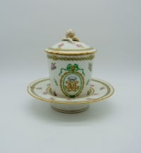 Tasse Trembleuse / De Carrosse En Porcelaine De Paris XIXème