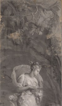 Manufacture Dufour, Paire de grisailles « Psyché et Cupidon », vers 1815