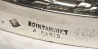 PAIRE DE CANDELABRES en argent XIXe par BOINTABURET