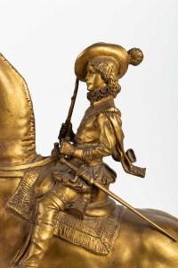 Sculpture en bronze doré de FREMIET Napoléon III 19e siècle