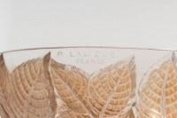 Paire d'Appliques « Charmes » verre blanc patiné sépia de René LALIQUE