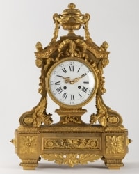 A Beautiful French 19th Century Louis XVI St. Ormolu Clock.