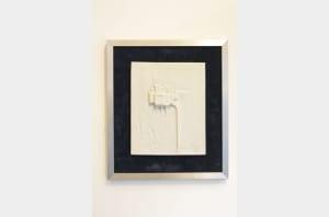 """Jacques BUCHHOLTZ - Bas-relief """"Village perché"""" en porcelaine de Limoges"""
