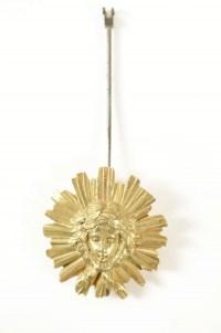 Clock set 3 pieces, 4 lights chandelabras, clock signed by Lemerle-Charpentier-Bronziers-Paris