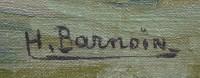 BARNOIN Henri tableau 20ème siècle Bretagne port de Concarneau Peinture huile sur toile signée