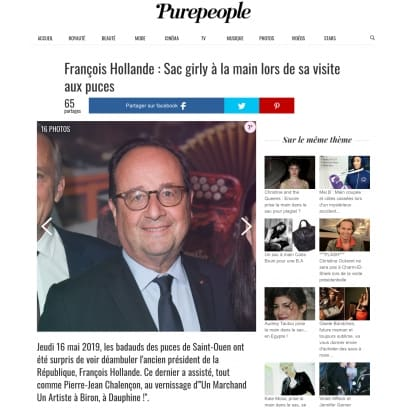 Article de Presse - François Hollande à Biron - Site Purepeople||