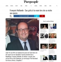 Article de Presse - François Hollande à Biron - Site Purepeople