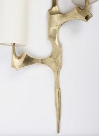Paire d'appliques en bronze Maison Arlus 1950