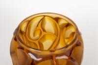 """René LALIQUE (1860-1945) Vase """"Tourbillons """" Teinté Ambre"""