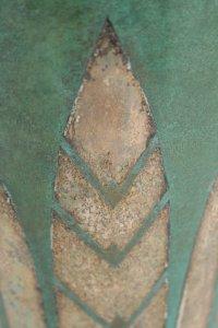 CHRISTOFLE & Luc Lanel (1893-1965) vase en  Dinanderie