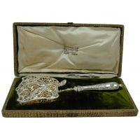 "Chapus ""A La Gerbe d'Or"", French Solid Silver Asparagus / Pastry Server"