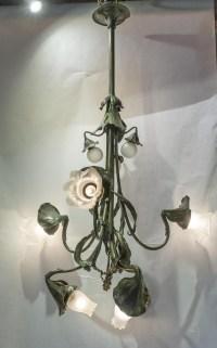 Lustre floral Art Nouveau
