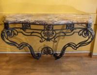 Grande Console En Fer Forgé De Style Louis XV, XIXème