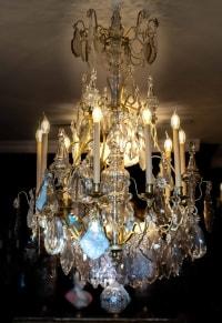 Très grand lustre en cristal, fin XIXème.