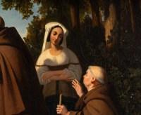 Léopold Robert 1794-1835. Paire de tableaux. Le puits et Le Repos.