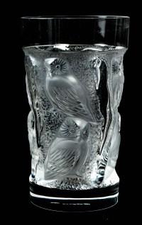 "Gobelets ""Hulotte"" Lalique France"