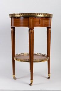 Petite table bouillotte Louis XVI estampillée VIEZ