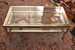 Jean Charles - Table basse en acier et bronze