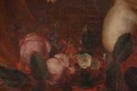 Peinture, Huile Sur Toile, Flamande, 17ème Siècle, Représentant Trois Amours.