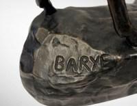 Le Cerf Bramant Par Antoine-louis Barye (1795-1875) , F. Barbedienne Fondeur