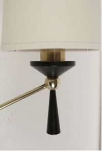 Large Pair of Sconce with Ring by Maison Arlus, 1950