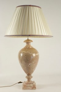 Marble lamp, 20th century