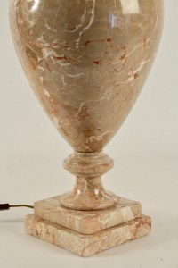 Marble lamp, 20th century