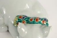 Sculpture de chat en porcelaine japonaise circa 1880