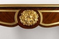Bureau plat en marqueterie 19e siècle Napoléon III