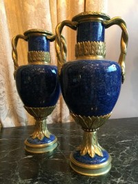 Paire de vases en céramique. Ref: 389.