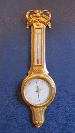 Baromètre-thermomètre d'époque Louis XVI (1774 - 1793)