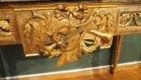 Console Louis XVI en bois doré