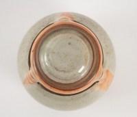 Evelyne Porret et Michel Pastore - Pot couverte en grès émaillé et cordon de cuir, vers 1980