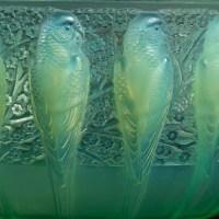 """René Lalique :Coupe """"Perruches"""" peppermint 1931"""